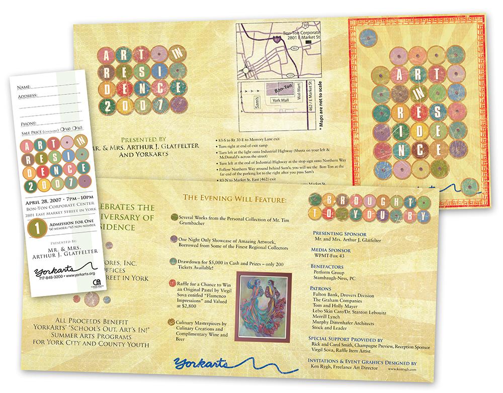 Art in Residence Print Design Materials