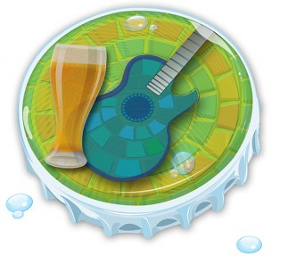 Blues and Brews Bottle Cap