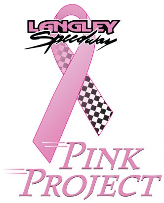 """Logo design for the """"Pink Project"""" a breast cancer fundraiser at Langley Motor Speedway."""