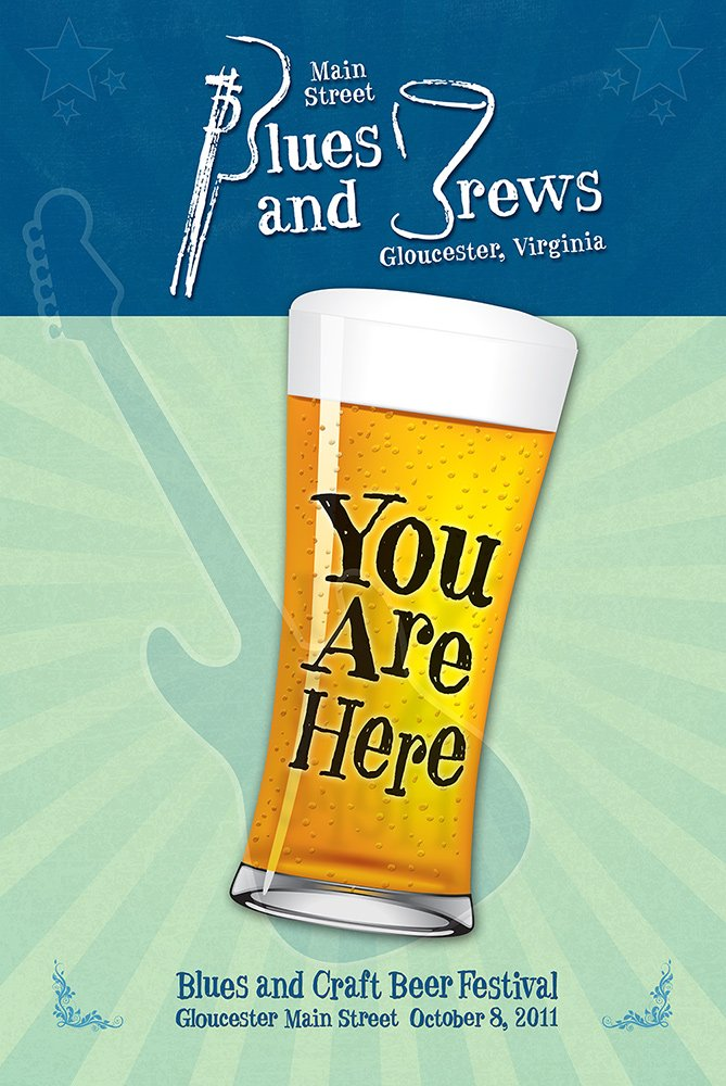 Blues and Brews Poster Design 2011