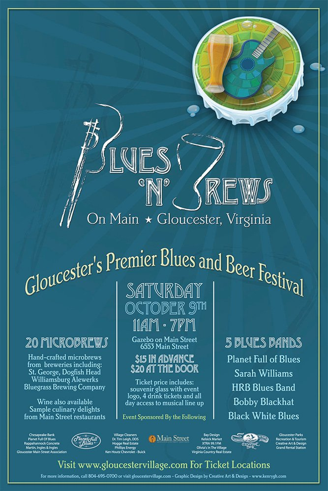 Blues and Brews Poster Design